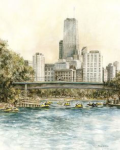 Lincoln Park Chicago Paddleboats by Paula Nathan