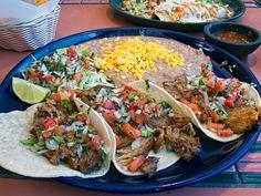 mexican food - tacos.  Oh Yeeaaahhh.