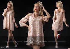 Свободное шифоновое платье с разрезами на плечах, купить, низкая розничная цена…