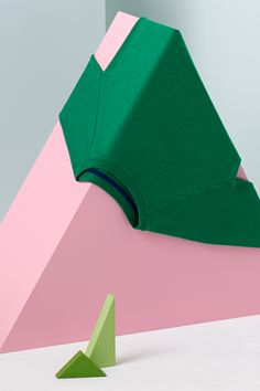 COS x HAY Wooden Wonderland. the color combination and the shapes creates great composition