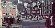Fra Bergen Ca.1940 - Fra Torget. Foto:Nils Busvold.