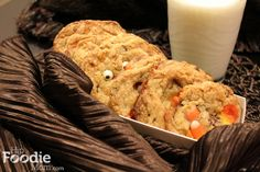 BOO Candy Corn and Chocolate Chip Cookies for Halloween (Momofuku Milk Bar recipe)
