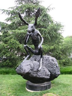 #highly sensitive person #highly sensitive people #hsp Thinker on a Rock, 1997 cast bronze by Barry Flanagan, British, born 1941 by cliff1066™, via Flickr