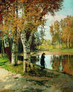 The Athenaeum - Autumn (Konstantin Kryzhitsky - )