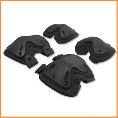 4-in-1 Anti-Impact Military Tactical Knee Pads of X-type Knee Protector Support for CS and Extreme Sports