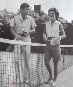 tommyhilfiger:    John and Jackie Kennedy on the tennis court. Courtesy of Tim Hill.