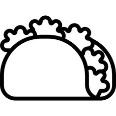 Taco free vector icon designed by mynamepong Cute Food Drawings, Mini Drawings, Doodle Drawings, Cartoon Drawings, Little Doodles, Cute Doodles, Baby Flash Cards, Doodle Art Journals, Cute Girl Drawing