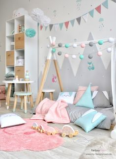 Forest animals wall stickers in pink & mint with matching rabbit textiles - # wall design ., # rabbit textiles Forest animals wall stickers in pink & mint with matching rabbit textiles - # wall design . Baby Bedroom, Baby Room Decor, Girls Bedroom, Bedroom Decor, Baby Room Design, Wall Design, Toddler Rooms, Girl Room, Wall Stickers