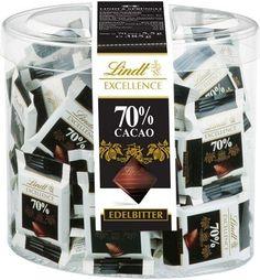 Lindt Mini hořké čokolády 70% 70 ks Dóza 385g - 0
