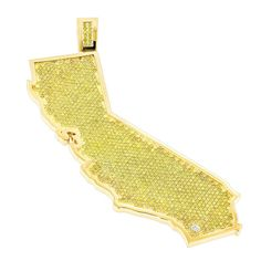 Unique custom diamond mens pendant in 14k gold 2ct pendants custom california state white yellow diamond pendant 182ct 14k gold aloadofball Gallery