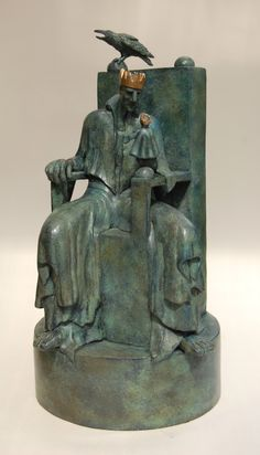 """""""The Lonely King"""" bronze"""