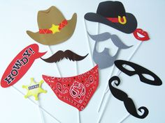 Rodeo Party, Cowgirl Party, Anniversaire Cow-boy, Accessoires Photobooth, Cowboy Crafts, Sweet Party, Wild West Party, Foto Fun, Birthday Themes For Boys