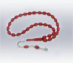 Kırmızı Ateş-i Kehribar Tesbih 2                                (Tzbh-006)