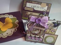 Hearts Ease paper collection by Couture creations. Card box, gift card, side step card. Created by Angie.