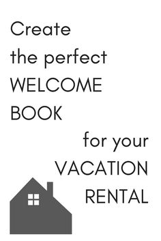Item Package  Vacation Rental Welcome Book Template Instant