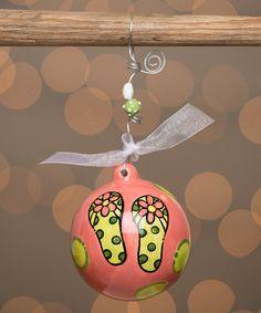 Look at this #zulilyfind! Life Is Better In Flip-Flops Ball Ornament #zulilyfinds