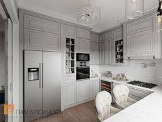 Фото кухня из проекта «Интерьер двухкомнатной квартиры в стиле американской классики, 68 кв.м.»