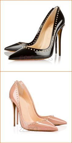 bae86b8a1fd Ericdress Charming Rivets Decorated Point Toe Pumps