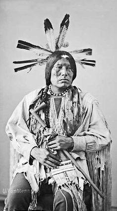 Eagle Man (or Man Who The Packs Eagle) - Yanktonai / Sioux (Nakota)