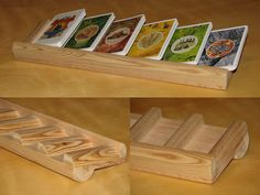 Settler of Catan board game - These beautiful card racks are not mine, but worth pinning since they are lovely!