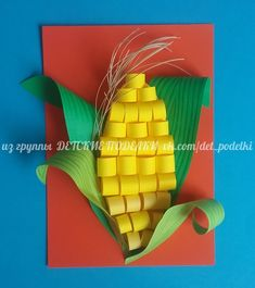 Corn paper craft school decorations, projects for kids, diy crafts for kids, art Fall Crafts For Kids, Summer Crafts, Toddler Crafts, Preschool Crafts, Projects For Kids, Kids Crafts, Art For Kids, Arts And Crafts, Paper Crafts