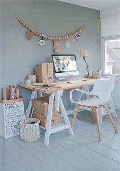 Un style épuré et naturel avec cette association de bois, du blanc, et des coloris comme le Laponie et le Lin