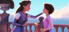 Rapunzel and her mother gif