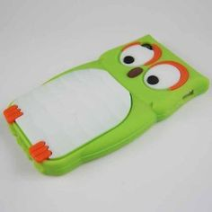 Green Cute Owl Animal Silicone Case for Iphone 4 & 4S.....So....I just ordered this...it's way goofy....but I cracked the back of my other case a few weeks ago, and I needed a new one....we'll see how long I can go with this one without getting too embarrassed to talk on my phone in public!! HA!