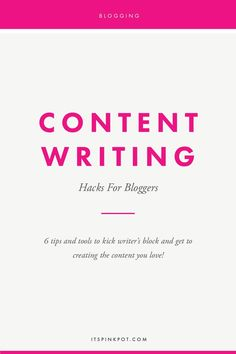 Down with writer's block or not able to make progress in writing content for your blog? We've all been there! Here are my top tips and tools to kick writer's block and get to doing the actual task for bloggers - writing content! (scheduled via http://www.tailwindapp.com?utm_source=pinterest&utm_medium=twpin&utm_content=post81431075&utm_campaign=scheduler_attribution)