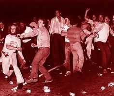 Rioters outside of the Stonewall Inn on June 28, 1969  Photo credit: Does anyone know who took this image? — in New York, New York.