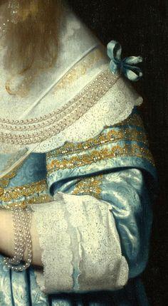 Portrait of a Girl (detail), by Bartholomeus van der Helst (Dutch, 1613-1670)