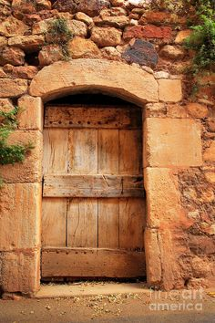 Roussillon old door in Provence_ France