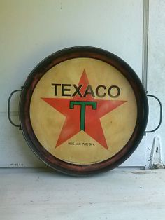 Texaco+metal+sign+vintage+gas+sign+metal+tray+by+SageSensations,+$40.00