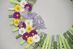 Spring Wreath Wreaths Daisy Wreath by GlitterGlassAndSass on Etsy