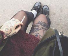 Love those old school tattoos...