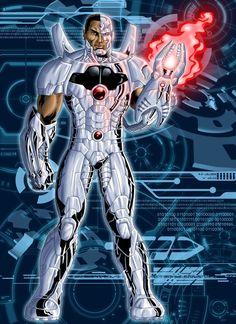 #Cyborg #Fan #Art. (New 52: Cyborg) By: Grivitt. ÅWESOMENESS!!! [THANK U 4 PINNING!!]
