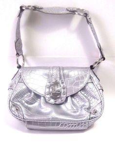 Kathy Van Zeeland Small Handbag Purse SILVER Metallic Bag Great for Prom #KathyVanZeeland #EveningBag #ebay