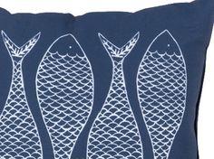 Decorative Painted Fish Pillow