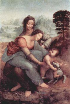 Anna selbdritt Leonardo da Vinci, ca. 1501-? Öl auf Leinwand, 168 × 130 cm Louvre