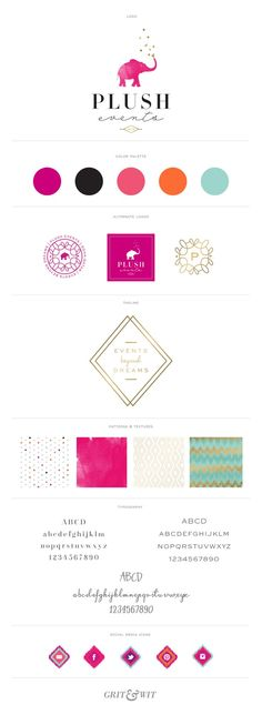 #identité #identity #elephant Brand Reveal // Plush Events - Grit & Wit