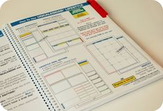 the UnCalendar:  It's a perfect combo of right/left brain organization. It's undated, so no matter when you start you still get a full year's use out of it.