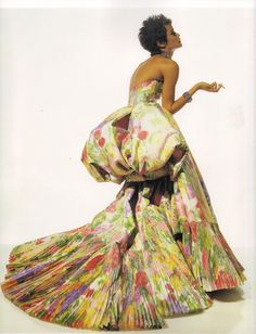 1992 - Nadege in Dior Couture by Gianfranco Ferre. V