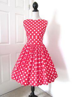 Hey, I found this really awesome Etsy listing at https://www.etsy.com/listing/92719772/vintage-style-retro-polka-dot-midriff