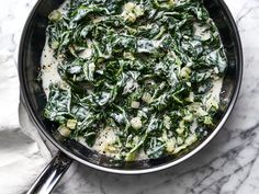 This Creamed Swiss Chard recipe from chef Rocco DiSpirito gets its flavor from coconut milk shallots and coconut oil. Get the recipe from Food & Wine/ Swiss Chard Recipes, Veggie Recipes, Wine Recipes, Paleo Recipes, Clean Recipes, Rocco Dispirito, Coconut Cream, Coconut Milk, Bon Appetit