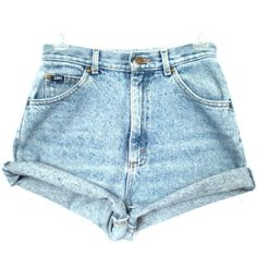 80's Lee acid wash high waist shorts size S/M ($28) ❤ liked on Polyvore featuring shorts, bottoms, pants, short, high-waisted shorts, short jean shorts, high rise jean shorts, vintage high waisted shorts and denim shorts