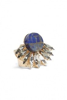 Anton Heunis blue circular gem ring