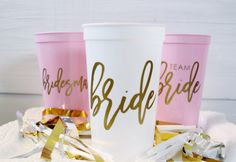 Bachelorette Party Cups Plastic Party Cups Plastic by RockMadeShop