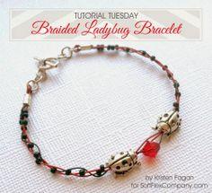 Tutorial Tuesday with Soft Flex - great summer bracelet with TierraCast ladybug beads #diy