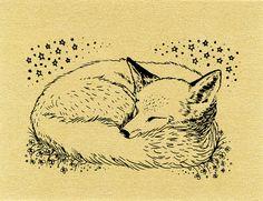 Fox Sleeping Drawing 3d5eae90c2a049cf55c8cc545dde5e ...