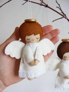 PDF pattern Felt angels. Christmas tree ornaments by iManuFatti